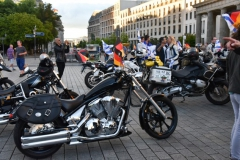 Bikers arrival at the Brandenburger Tor July 25th