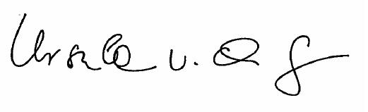 Unterschrift Ursula v.d. Leyen