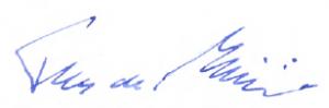 Unterschrift de Maizière